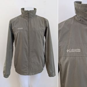 COLUMBIA Full Zip Jacket, Mesh Lined, Olive, L